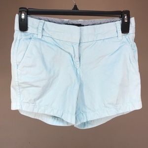 J. Crew Women's Chino Shorts Size 2 Blue Cotton